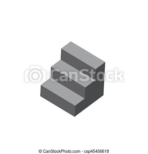blanc, vecteur, escalier, fond - csp45456618