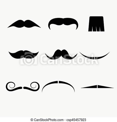 blanc, vecteur, moustache, fond - csp45457923