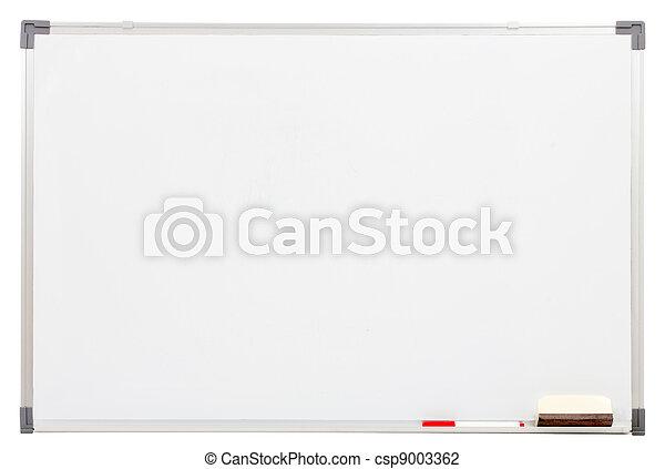 blanc, vide, isolé, planche - csp9003362