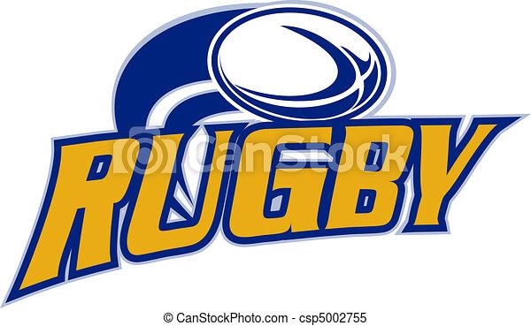 blanc, voler, balle rugby - csp5002755