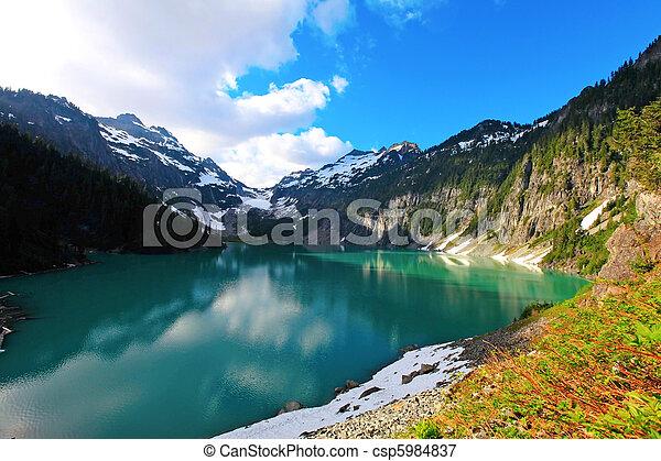 Blanca Lake, Washington State - csp5984837