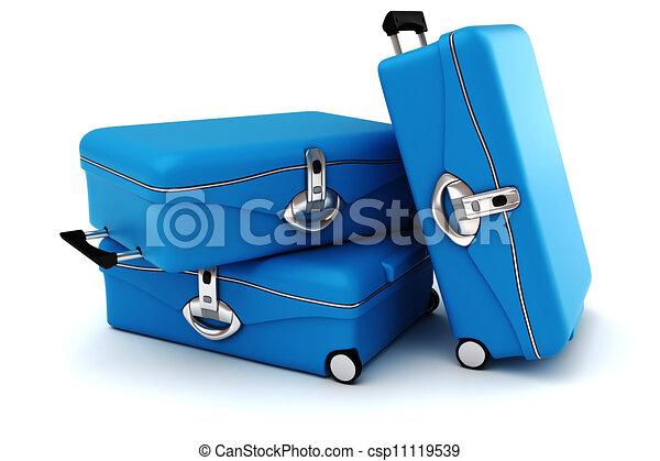3d equipaje aislado en blanco - csp11119539