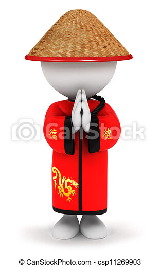 3D blancos chinos - csp11269903