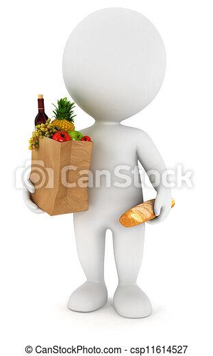 Los blancos de 3D van de compras - csp11614527