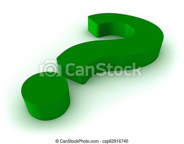 Signo de interrogación 3D en blanco - csp62916740
