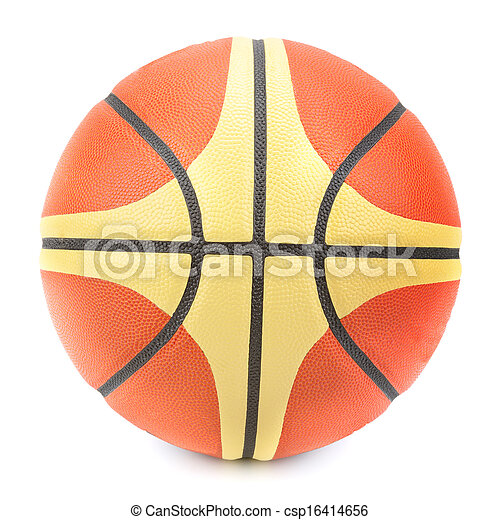 blanco, baloncesto, aislado, plano de fondo - csp16414656