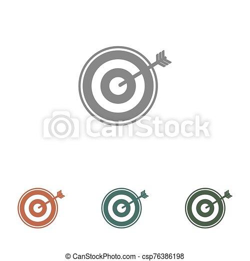 blanco, blanco, icono, aislado, flecha, plano de fondo - csp76386198