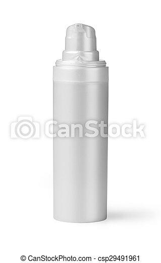 Botella de plástico blanco - csp29491961