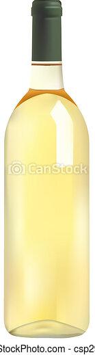 blanco, botella, vino - csp2985522