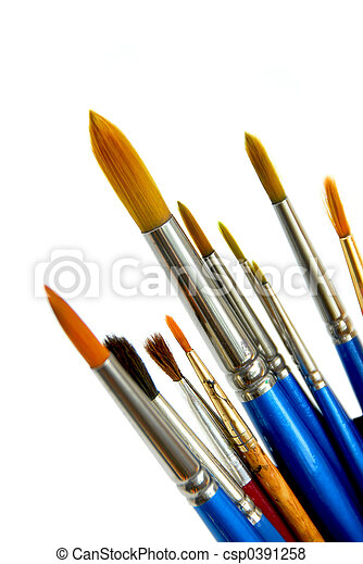 Pinturas en blanco - csp0391258