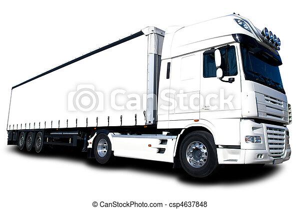 Camión blanco - csp4637848