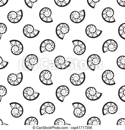 Blanco, caracoles, plano de fondo, conchas. Conchas, patrón ...