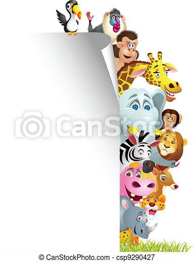 Dibujos animados con señales en blanco - csp9290427