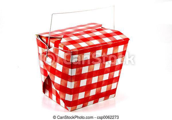 Cartón rojo y blanco - csp0062273