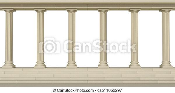 Columnas en un fondo blanco - csp11052297
