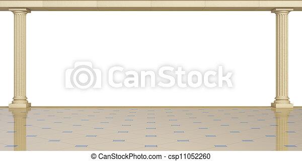 Columnas en un fondo blanco - csp11052260