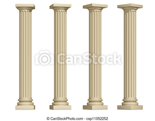 Columnas en un fondo blanco - csp11052252