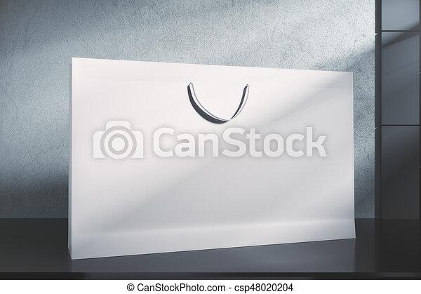 Bolsa blanca de compras, concepto de venta al por menor - csp48020204