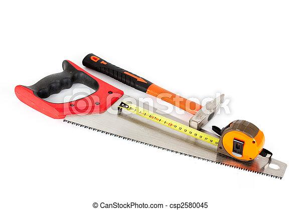 Herramientas de construcción aisladas en fondo blanco - csp2580045