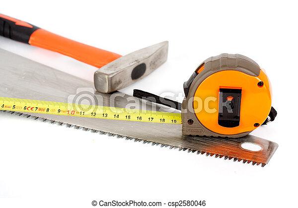 Herramientas de construcción aisladas en fondo blanco - csp2580046