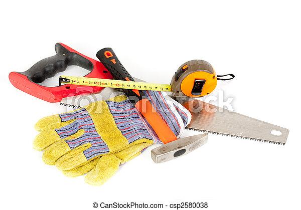 Herramientas de construcción aisladas en fondo blanco - csp2580038
