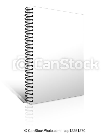 Cuaderno blanco - csp12251270