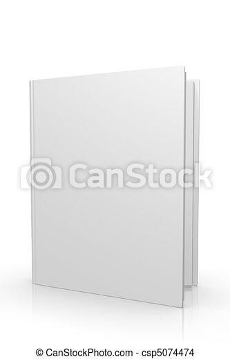 3D libro en blanco cubre el ícono de Internet - csp5074474