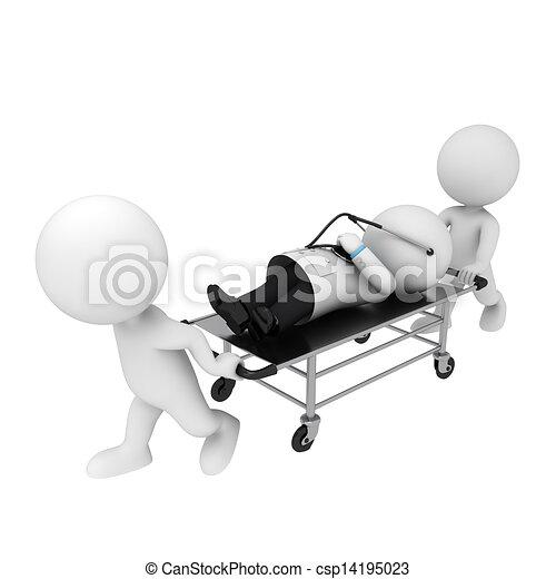 3D blancos como médicos - csp14195023