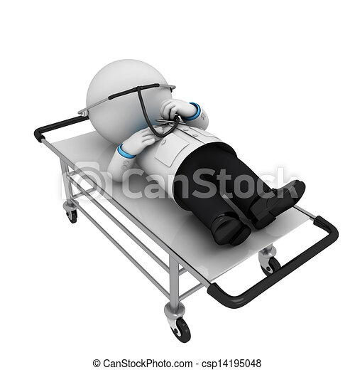 3D blancos como médicos - csp14195048