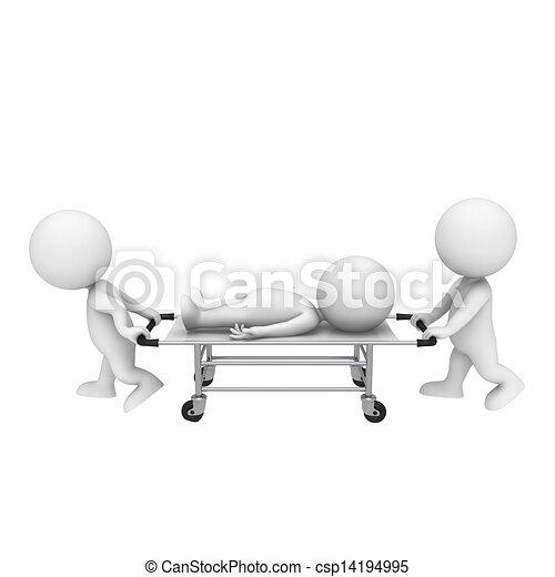 3D blancos como médicos - csp14194995