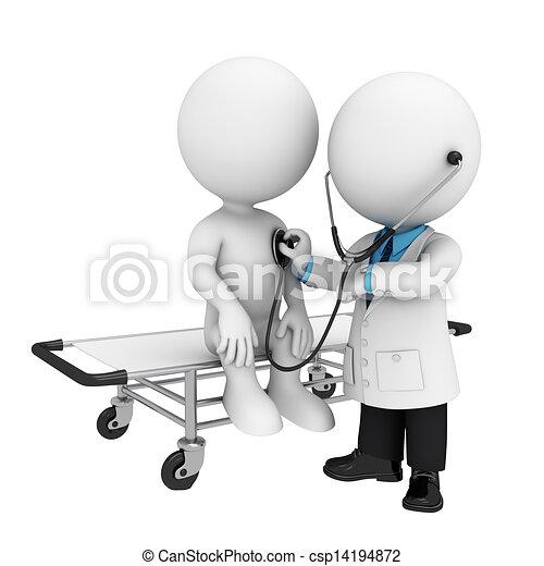 3D blancos como médicos - csp14194872