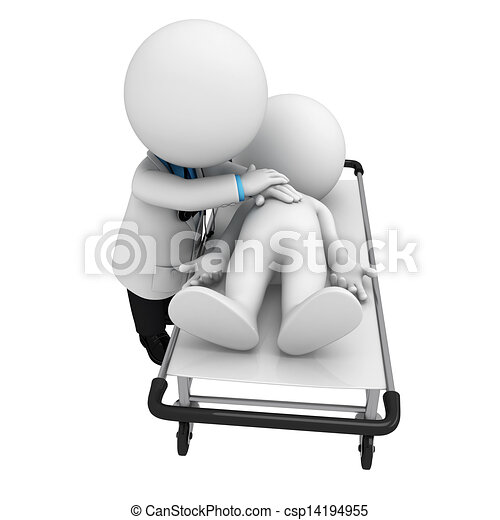 3D blancos como médicos - csp14194955