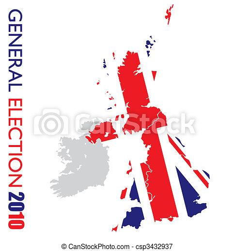 blanco, elección, británico, general - csp3432937
