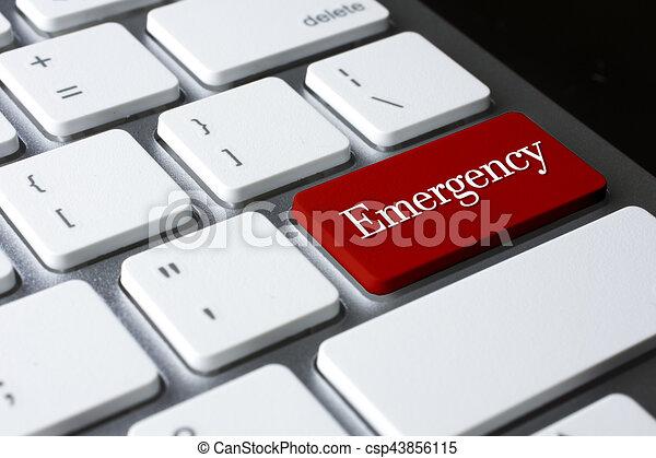 Emergencia en teclado blanco - csp43856115