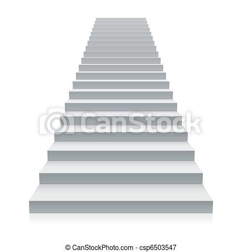 Escaleras blancas - csp6503547