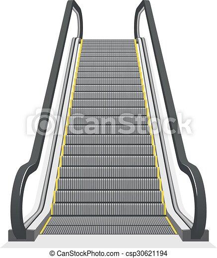 Blanco escalera mec nica plano de fondo aislado for Escaleras dielectricas precios