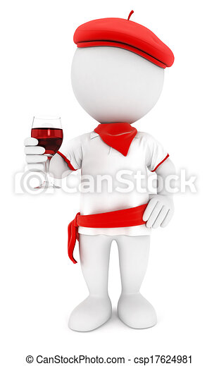 3D personas blancas festayre - csp17624981