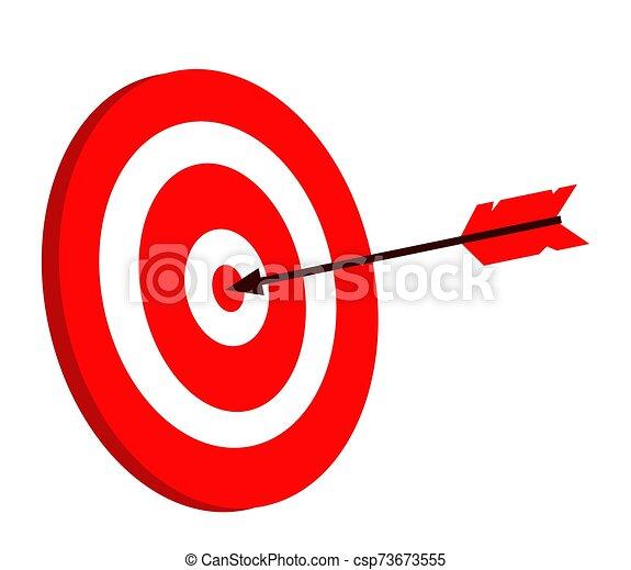 blanco, flecha, blanco, símbolo., fondo. - csp73673555