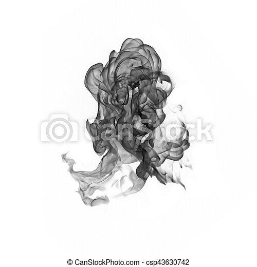 Humo negro en un fondo blanco - csp43630742