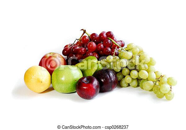 Frutas en blanco - csp0268237