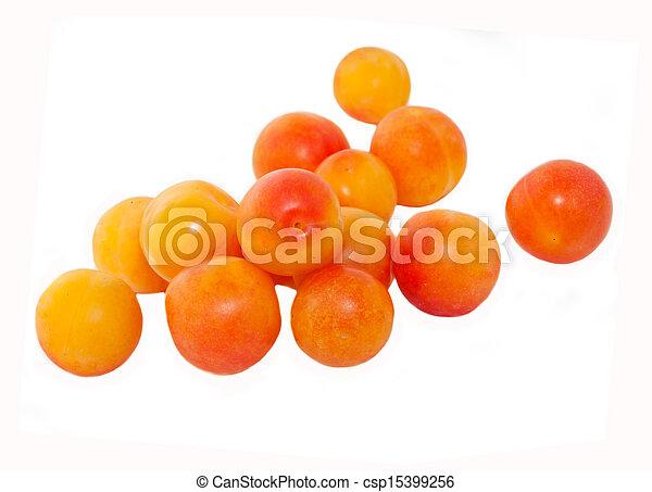 Fruta de cereza aislada en blanco - csp15399256
