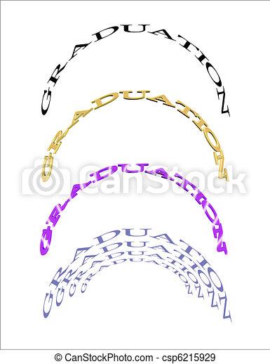 blanco, graduación, curvas - csp6215929