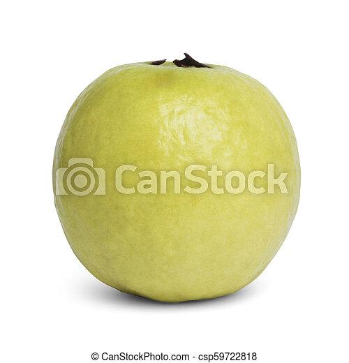 Guava aislada en el fondo blanco - csp59722818