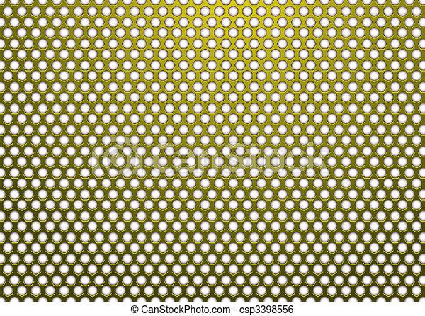 Hexagon metal dorado blanco - csp3398556