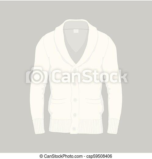 La chaqueta blanca de los hombres - csp59508406