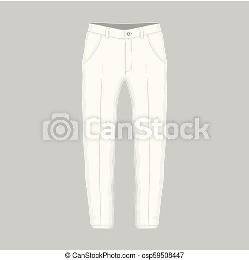 Pantalones blancos de hombre - csp59508447