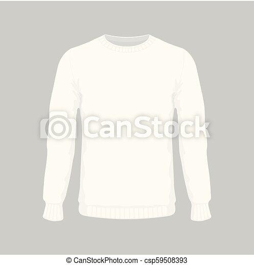El suéter blanco de los hombres - csp59508393