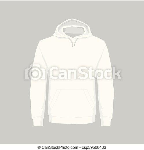 Sudadera con capucha blanca de hombre - csp59508403