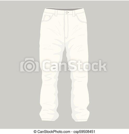 Vaqueros blancos de hombres - csp59508451