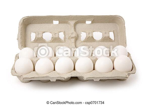 Huevos blancos - csp0701734